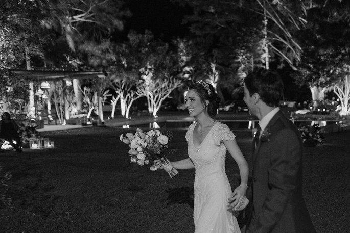 Caminhada noivos