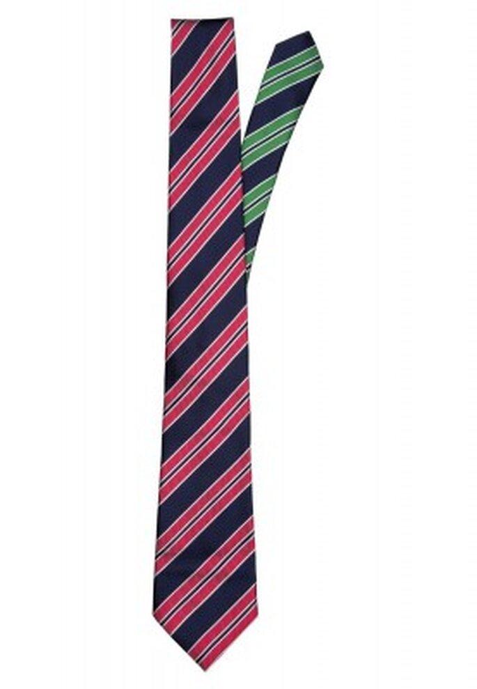 Krawatte für den Bräutigam, der sich (etwas) traut. Hier: Tommy Hilfiger Tailored.