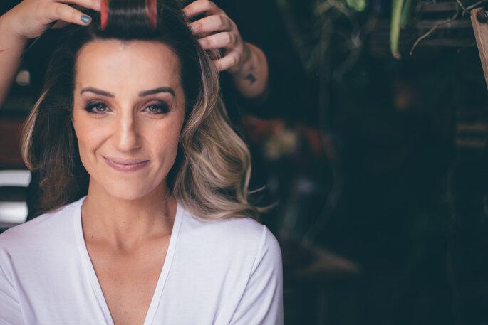 Maquiagem e cabelo da noiva: Amanda Raimondi. Foto: L'amourgraphy