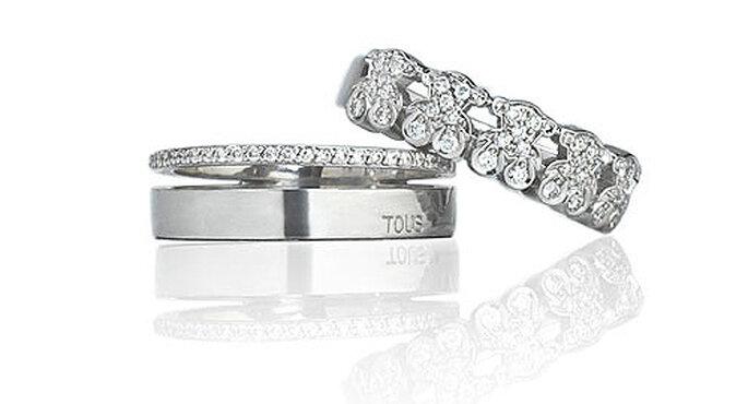 Las alianzas de Tous son una opción muy romántica para novias