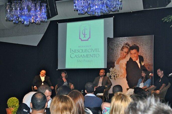 Mesa redonda Fotografia de Casamento no Inesquecível Casamento 2012 SP, com Carola Montoro, Elder Beck, Irit Tommasini, Nilson Versatti e Reynaldo Cavalcanti.
