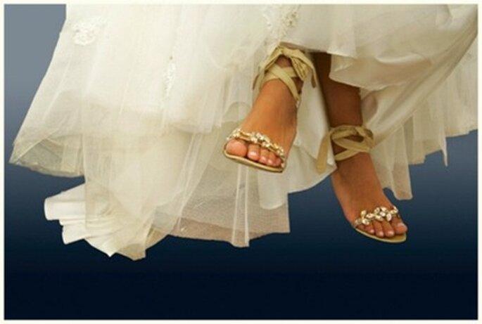 Las sandalias que lucirá la novia