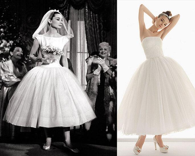 El vestido de novia de Audrey Hepburn ha inspirado a muchas novias, entre ellas el modelo 'Nazaret' de Aire Barcelona
