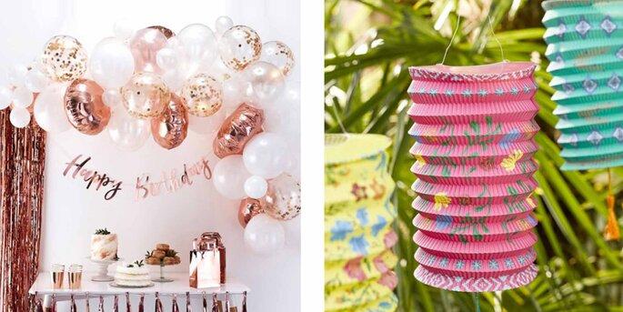 Arco de globos de oro rosa 70 unidades