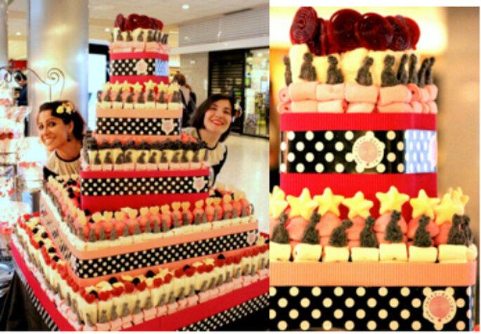 Tartas de golosinas para tus invitados, acierto asegurado. Foto: Equipo de Sweet Design