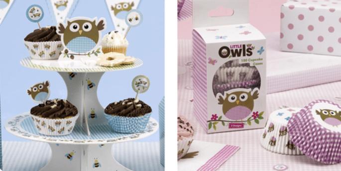 Stand gâteau baby boy et Moules à muffin en papier baby girl 100 pièces