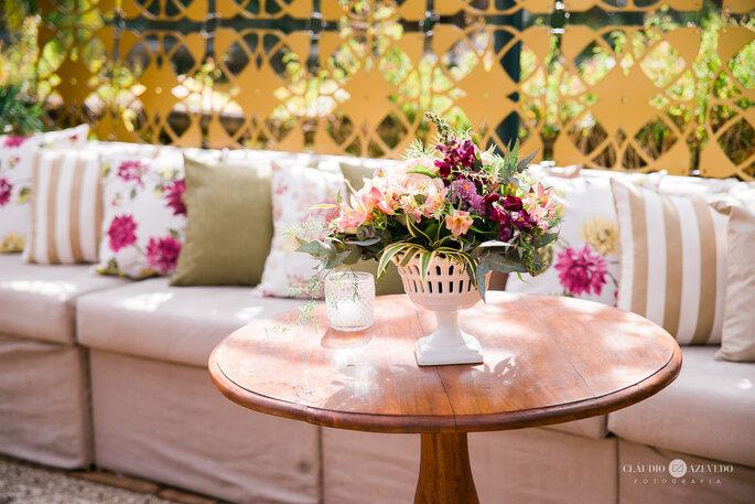Detalhes florais de casamento Boho