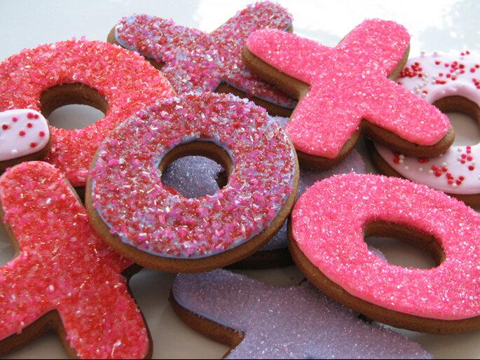Galletas para San Valentín o compromiso. Foto: Whipped Bakeshop