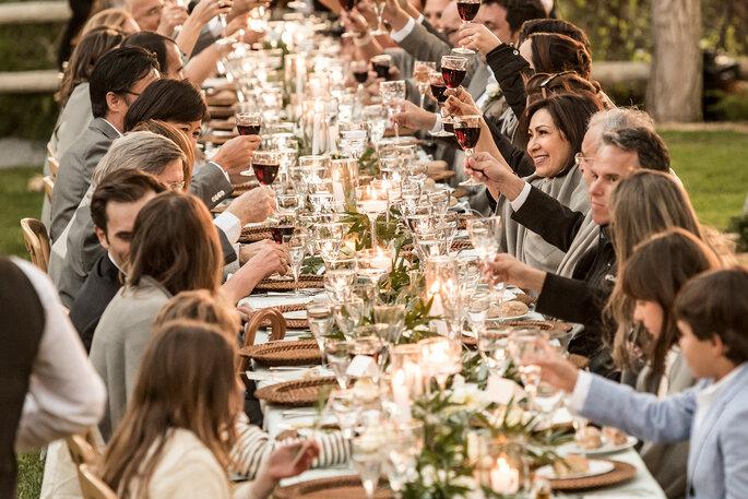 almoço de casamento ao ar livre
