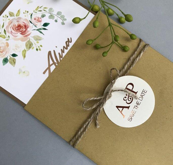 Invitaciones de boda originales diseños unicos Erika Robledo Sociales