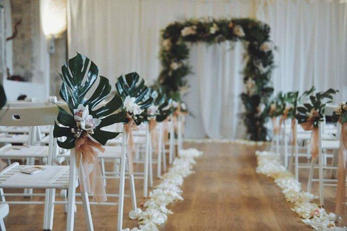 Espacio para la ceremonia de la boda