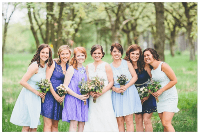 Vestidos para damas de boda en tendencia este 2014 - Foto Matt Lien