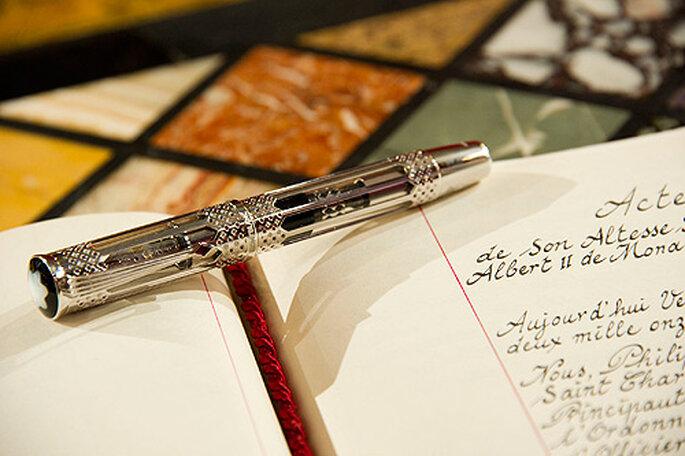 El acta civil firmado por Charlene y Alberto de Mónaco. Imagen: image.net