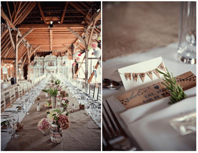 Decoración original para una boda vintage y trendy - Foto Marianne Taylor Photography