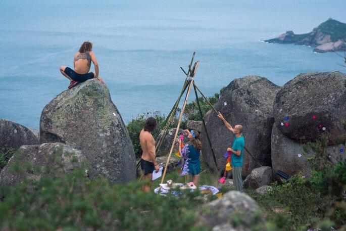 Decoração casamento hippie
