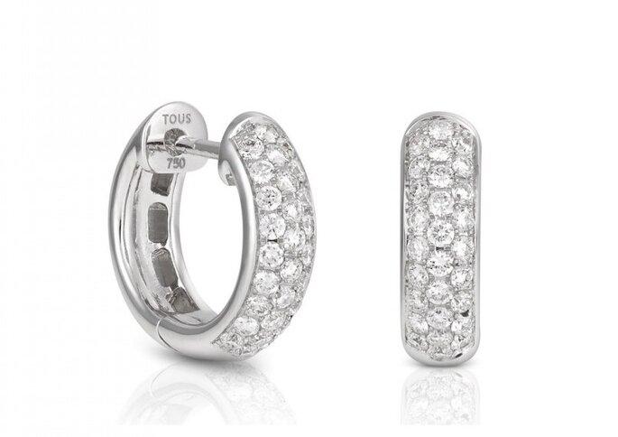 Joyas para novia: pendientes de oro blanco con diamantes