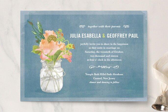 Invitaciones de boda perfectas para una ceremonia rústica - Foto Minted