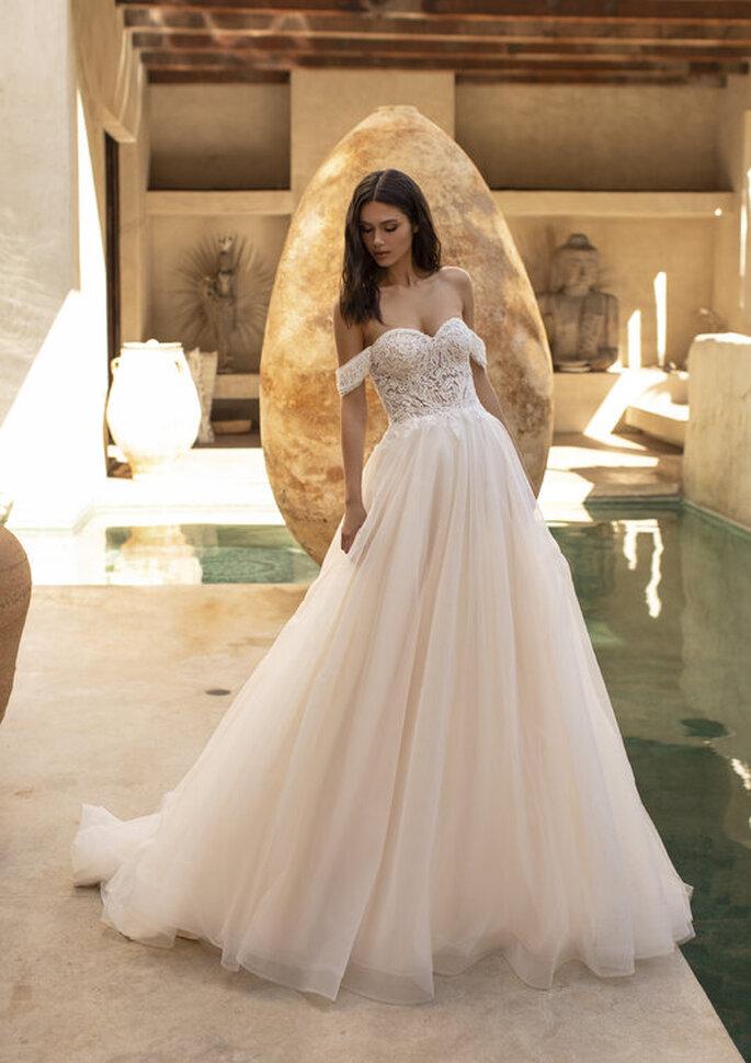 Vestidos de novia hombros caídos