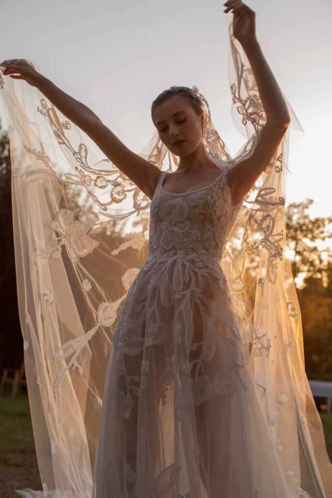 véu de noiva bordado
