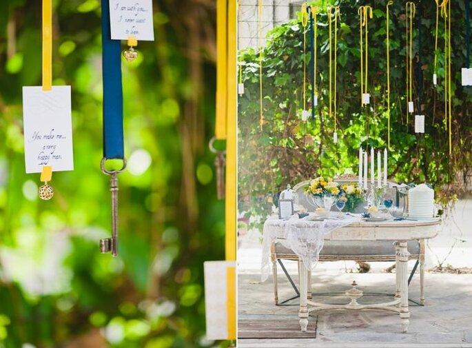 Matrimonio Giallo E Azzurro : Giallo e azzurro i colori di tendenza per le decorazioni