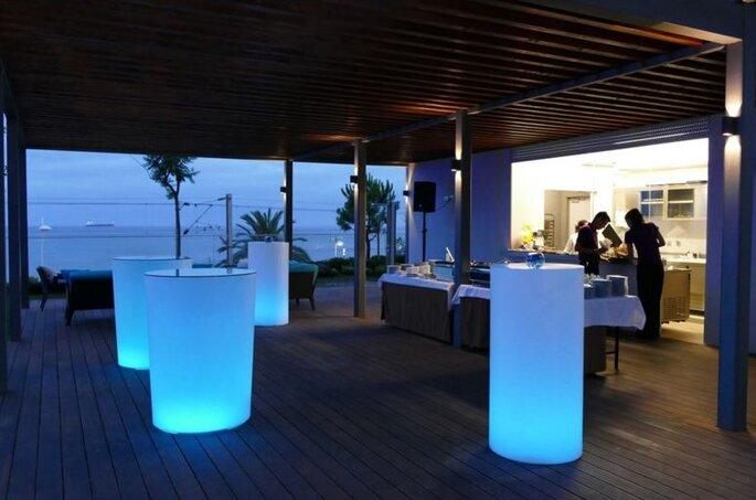 Mesas iluminadas para eventos