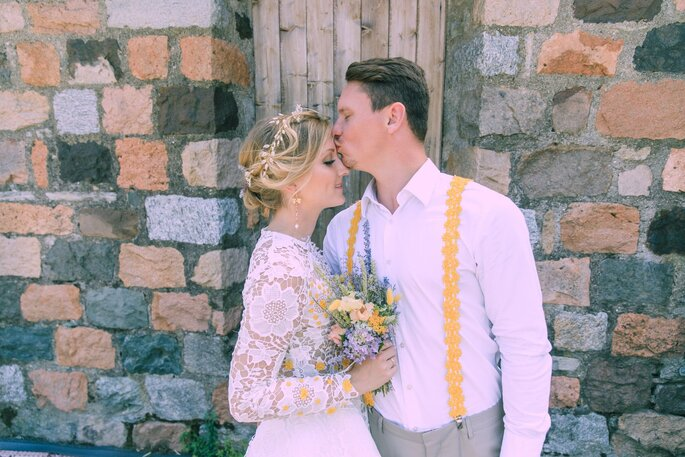 Rustikales Flair bei der Hochzeit im Tessin.