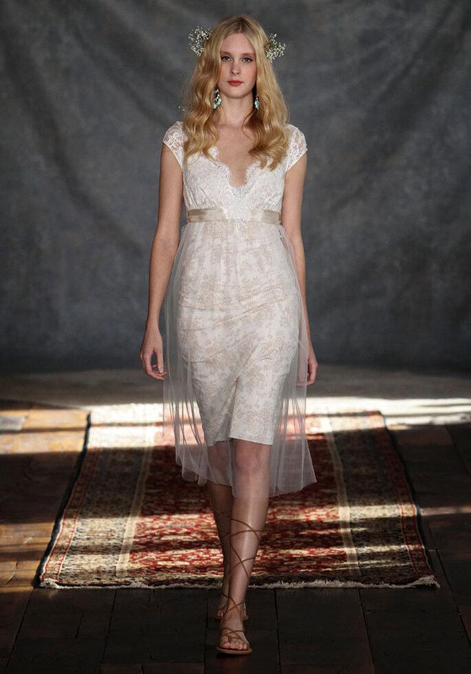 Tendencias en vestidos cortos. Foto: Claire Pettibone Romantique