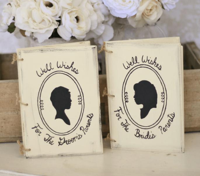 Decoración con silueta para bodas - Foto Etsy