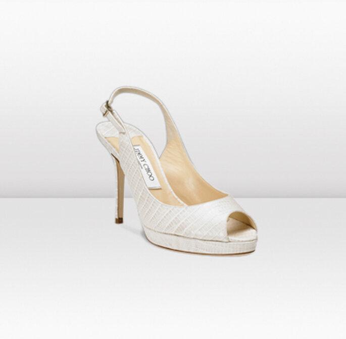 Nova, sandali peep toe con piattaforma, in satin