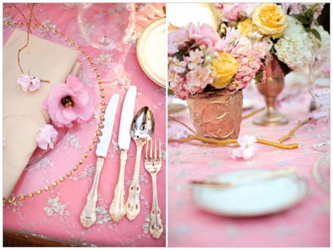 Colores en tendencia para una boda en primavera 2014 - Foto Jessica Lewis