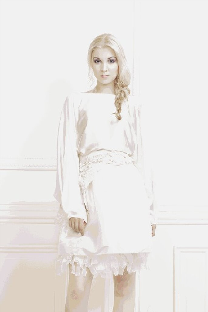 Gwanni, une collection de robes de mariée ultra féminine, créative et moderne - Photo : Gwanni
