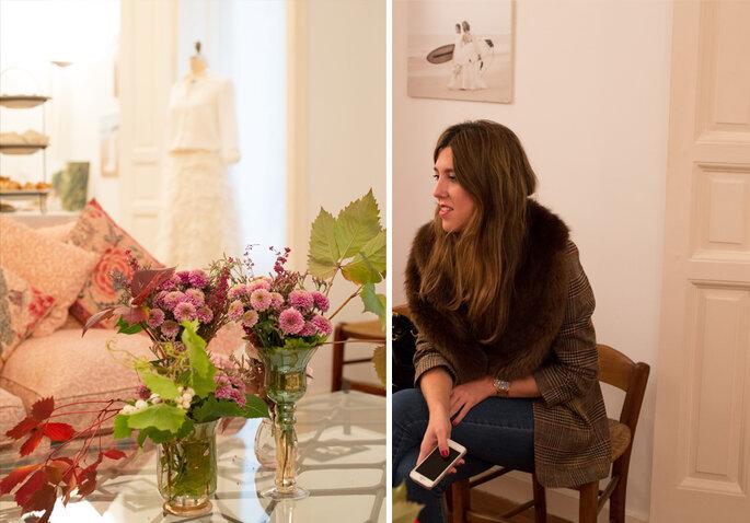 Imágenes de Beatriz Goiri en el atelier de Desiderata Bodas
