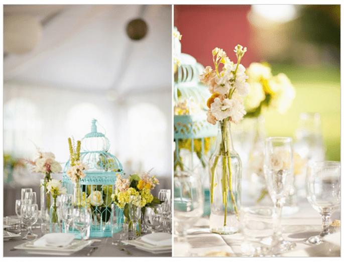 Decoración original para una boda vintage - Foto Korie Lynn Photography