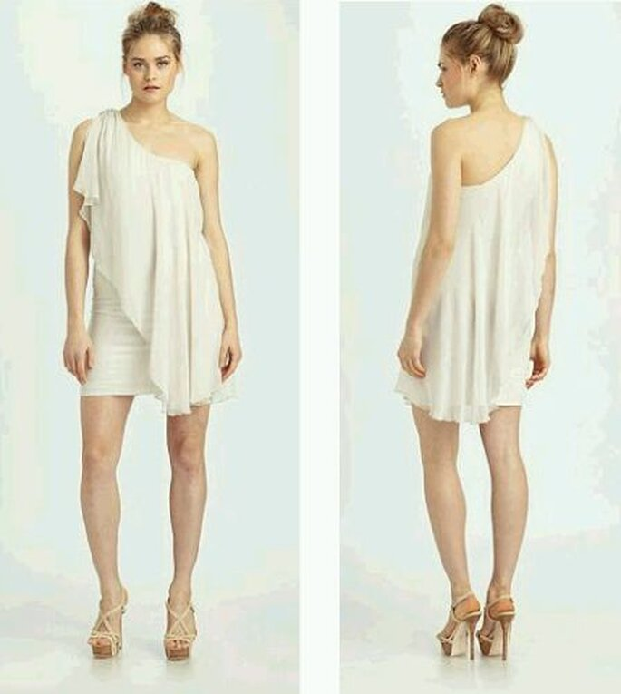 Alice + Olivia One-Shoulder Drape Dress
