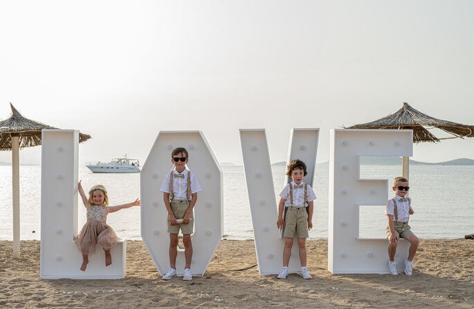 Letras XL para bodas