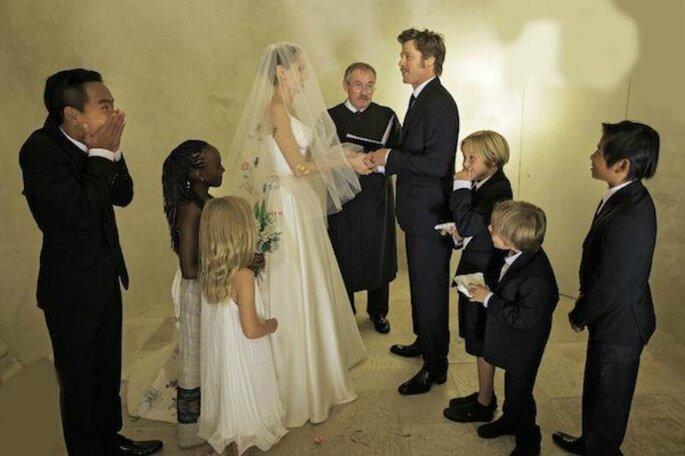 Il matrimonio di Brad Pitt e Angelina Jolie - Foto by Pinterest