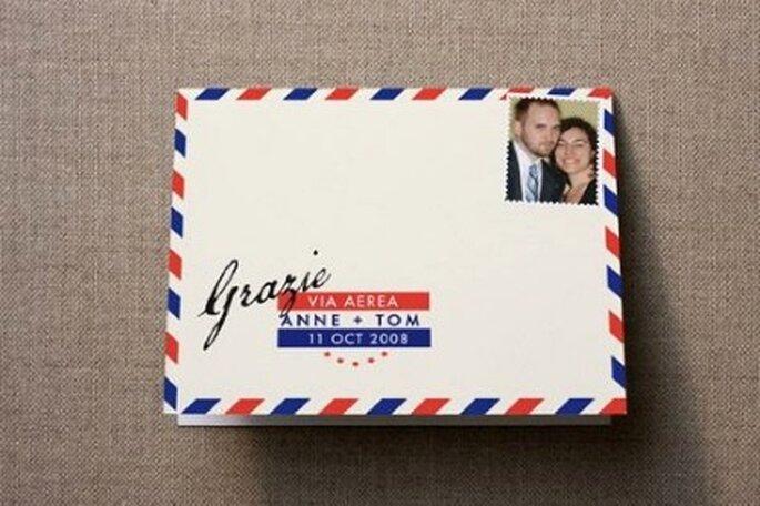 Las tarjetas de agradecimiento deben ir firmadas por los dos