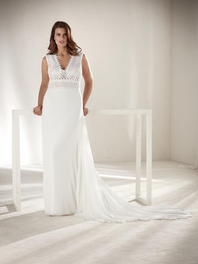 Vestido de novia XL sencillo