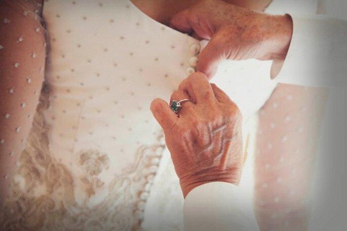 Plumeti en vestido de novia - Foto 35mm