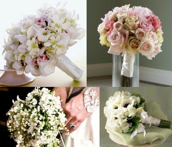 Un bouquet tondeggiante, l'opzione semplice ma chic di Caterina