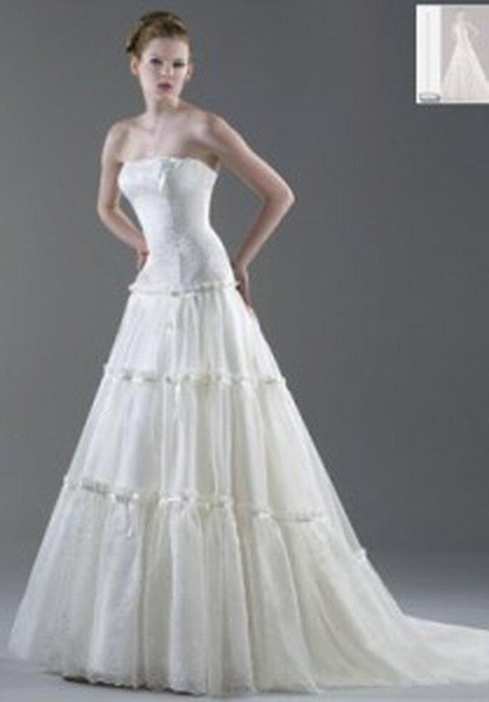 Vestido de novia - Esther Rodríguez - Vestido largo princesa, tul