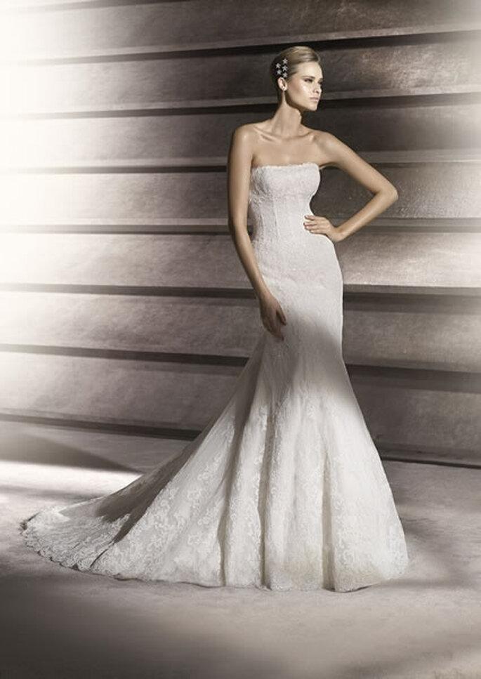 Vestido de novia con corsé. Patricia de Pronovias