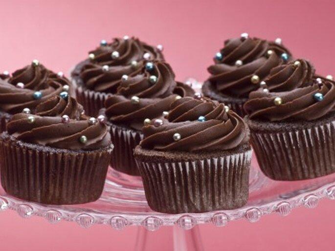 Cupcakes au chocolat : au top dans un mariage ! Photo: Cupcakes da Luana.