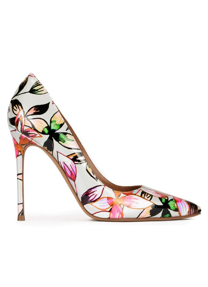zapatos estampados flores