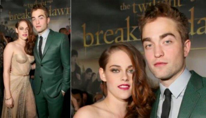Inspiración en el look de Kristen Stewart y Robert Pattinson para una boda - Foto ENews YouTube