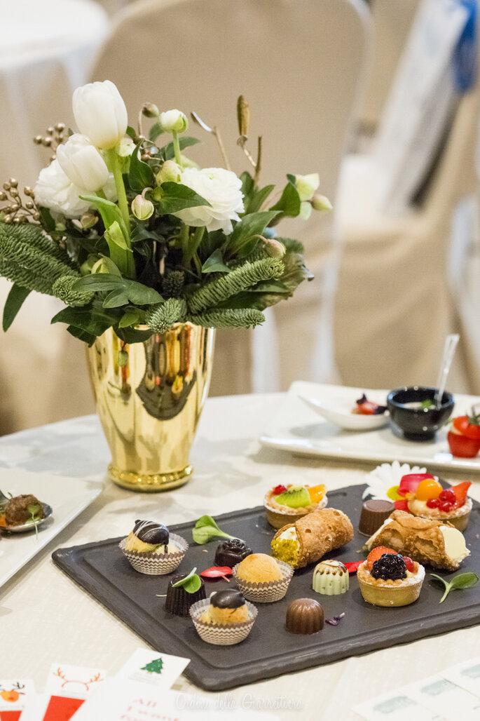 Durante la mattinata non mancano sfiziosi assaggi offerti dal catering dell'Hotel Imperiale