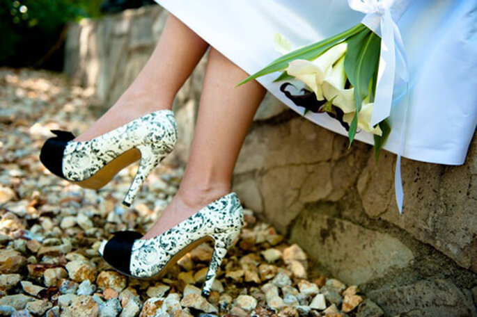 buty ślubne panterka