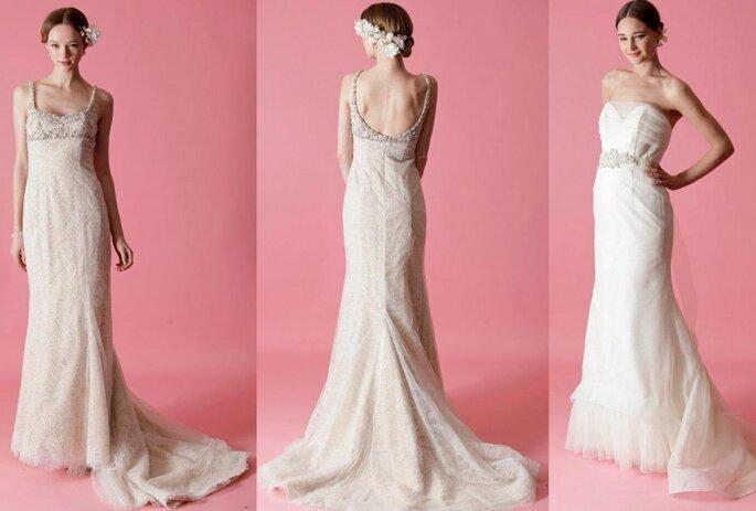 Vestidos de novia otoñales de Badgley Mischka