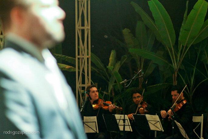 Música ao vivo para a cerimônia. Foto: Rodrigo Zapico