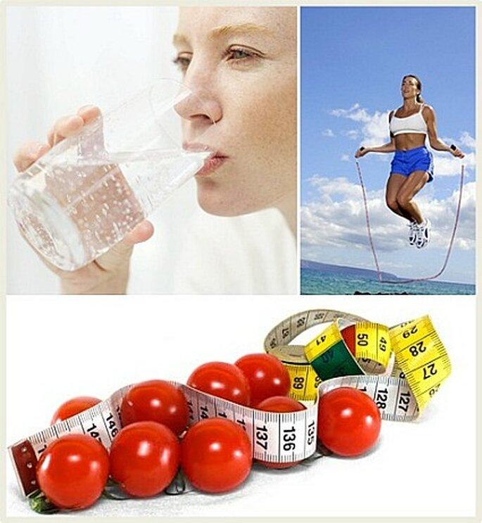 Olvide los jugos gaseosas debe cambiarlos por agua, aprenda a sacarle buen provecho. Si usted toma un vaso de agua antes de cada comida tendrá sensación de llenura lo cual será favorable.